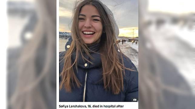 俄羅斯一名16歲少女索菲亞突然腹痛死亡,子宮也跟著不見。 圖/翻攝自太陽報