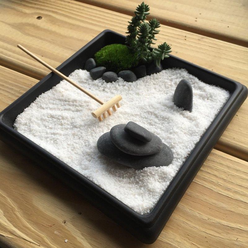 純自然 日式 禪庭 沙盤 枯山水 盆栽 禪風 送禮 手作 zen potted
