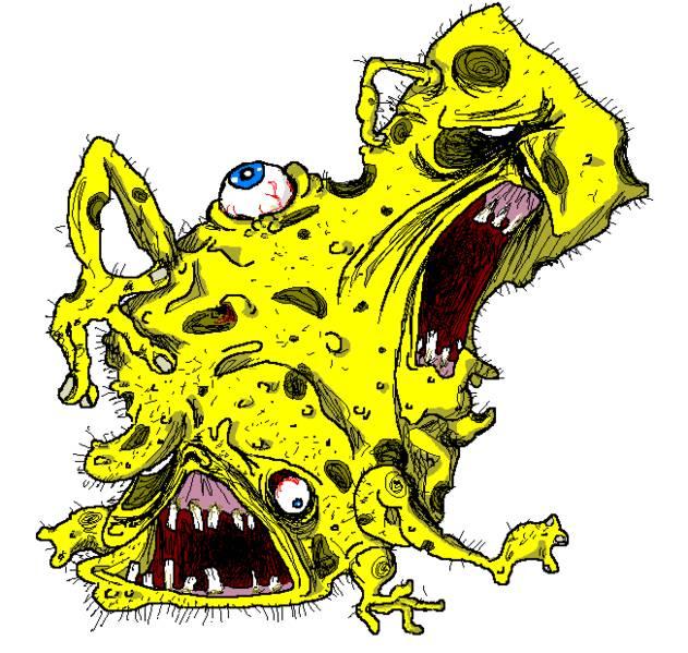 11 Gambar Horor Spongebob Ini Bikin Merinding Dalam Sekejap
