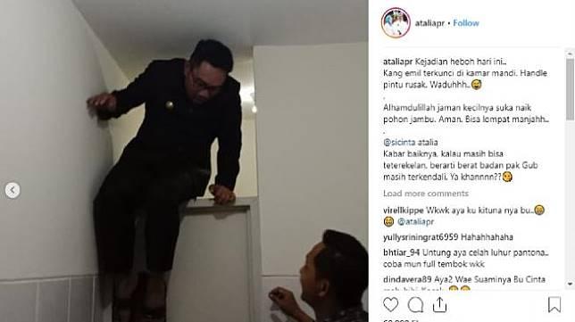 Cerita Kocak Ridwan Kamil Bisa Terkunci dan Terjebak di Toilet