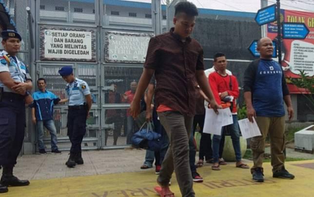 Napi Lapas Tanjung Gusta Medan yang mendapat asimiliasi dan dipercepat pembebasannya. (Foto: Istimewa)