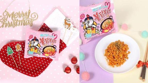 韓國辣雞麵換上超萌『粉色限定』包裝~~!