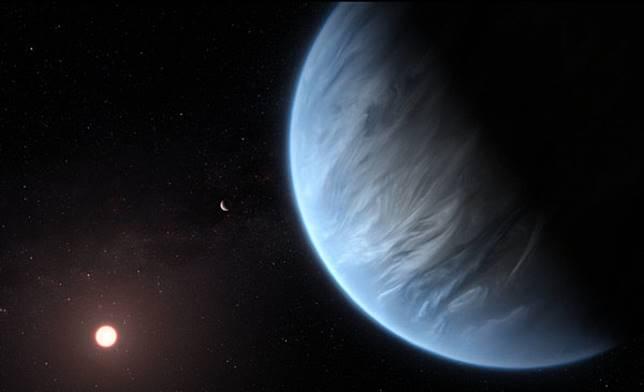 ▲「 K2-18b 」行星,環境與地球相似,除了溫度相同外,大氣也發現有水分存在。(圖/翻攝自維基百科)