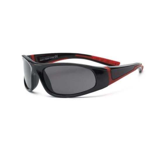 【淘氣寶寶】音速閃電兒童太陽眼鏡4-7歲/紅黑 RKS4-01294 (UV400鏡片,可完全過濾UVA和UVB兩種紫外線)