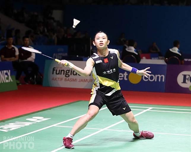 戴資穎在印尼羽球公開賽女單第一輪只花31分鐘就收下勝利。(Badminton Photo提供)