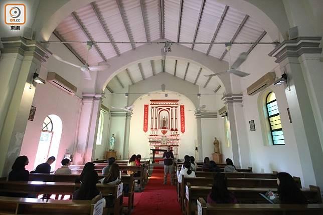 鹽田梓是香港天主教發源地,當年的鹽田梓全島村民信奉天主教。(盧展程攝)