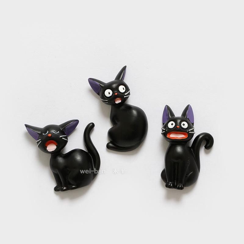 未半 日本魔女宅急便黑貓冰箱貼 吉吉磁鐵磁貼創意動物吸鐵石定製