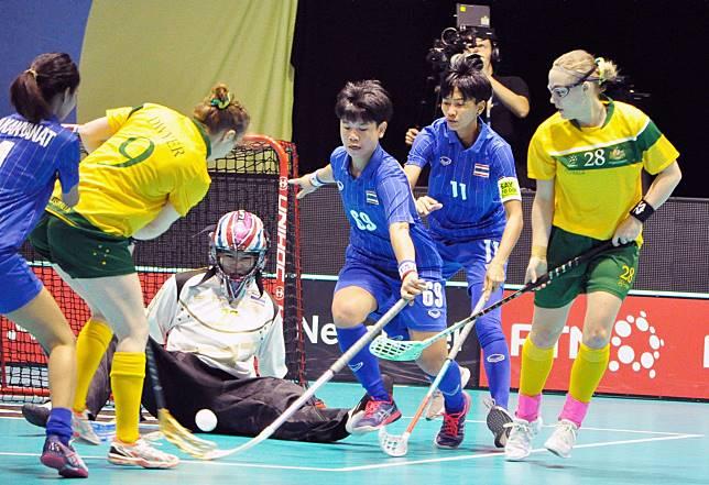 ฟลอร์บอลหญิงทีมชาติไทยพ่ายเกมที่ 2 ศึกชิงแชมป์โลก