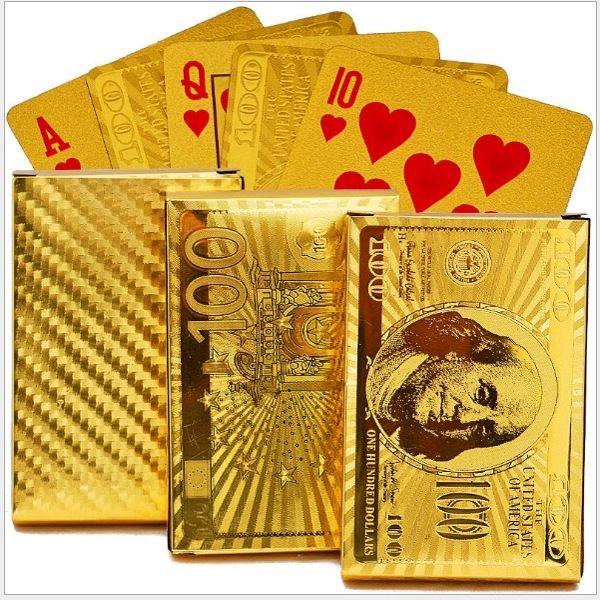 金色撲克牌,木製包裝盒需另外購買,適合送禮、收納專用,超高端質感