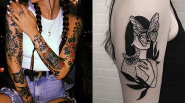 嫩妹才跟你微刺青!盤點 4 個酷妹子最愛的刺青風格!原來辣妹身上都是這款?