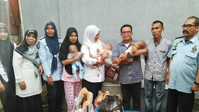 Miris, Tiga Bayi Kembar ini Terpaksa Mendekam di Penjara Bersama Ibunya