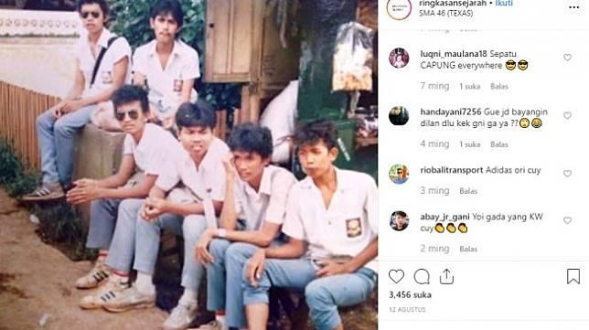 Foto jadul gank sma tahun 1988. [Instagram]