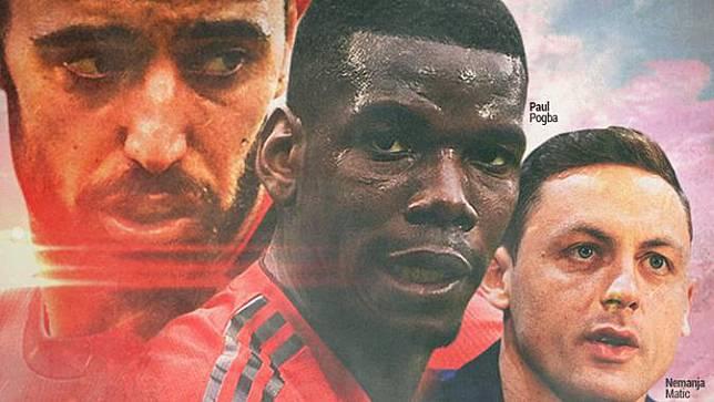 Manchester United - Bruno Fernandes, Paul Pogba, Nemanja Matic