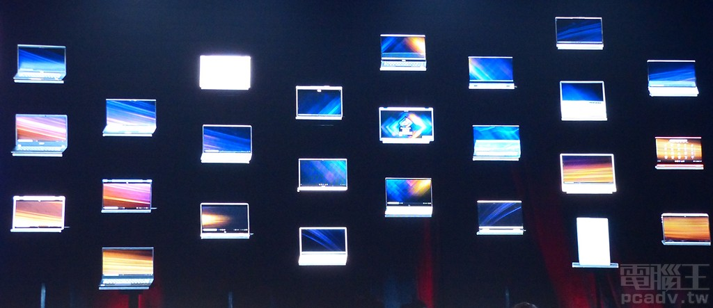 Intel Innovation through Intelligence 現場展出 25 款已通過 Project Athena 認證的筆電產品。