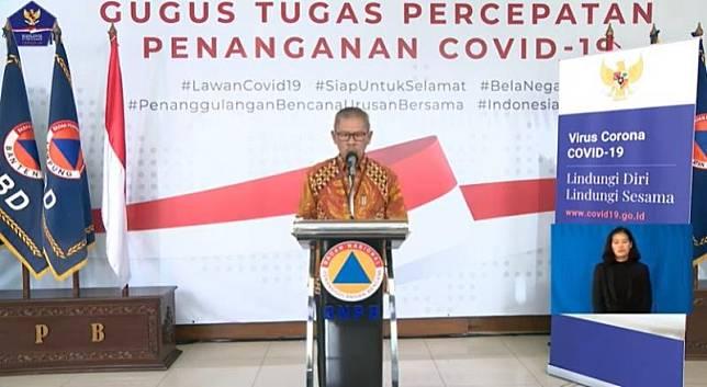 Tangkapan layar Juru Bicara Pemerintah untuk Penanganan Covid-19 Achmad Yurianto.