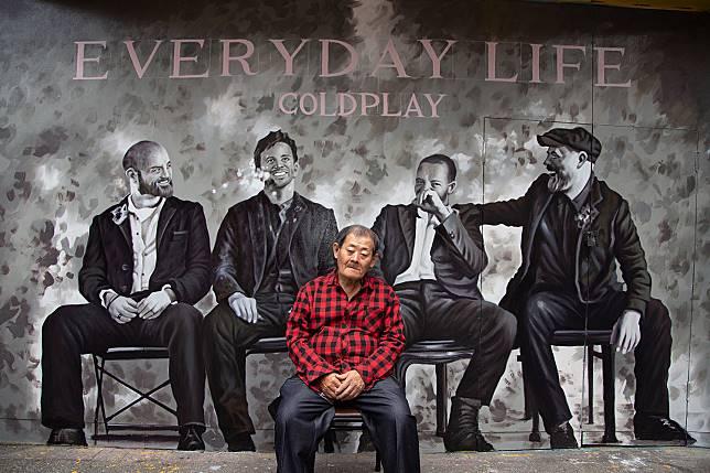 繼Gucci之後,這次是酷玩Coldplay!台灣國寶級畫師顏振發手繪牆再現台北街頭6.jpg
