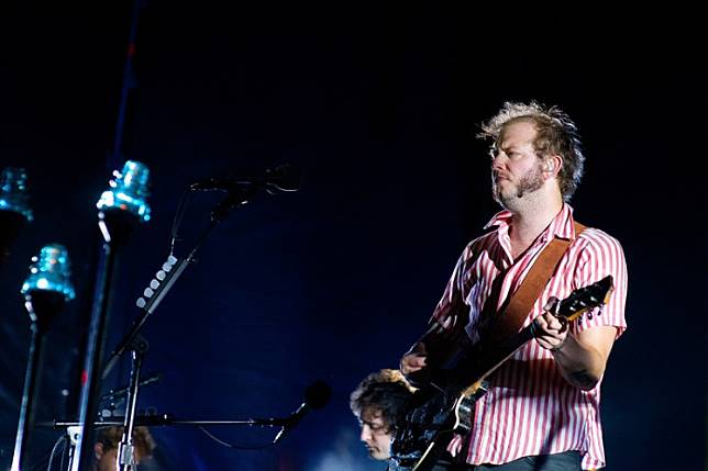 Bon Iver performs at Poble Espanyol on July 27, 2012, in Barcelona, Spain.