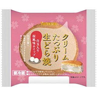 クリームたっぷり生どら焼白玉入り桜風味ホイップ