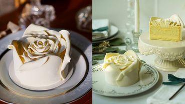 白色情人節約會、慶祝首選蛋糕!BAC「白色戀人」手工玫瑰花蛋糕限定登場,白玫瑰花語太浪漫