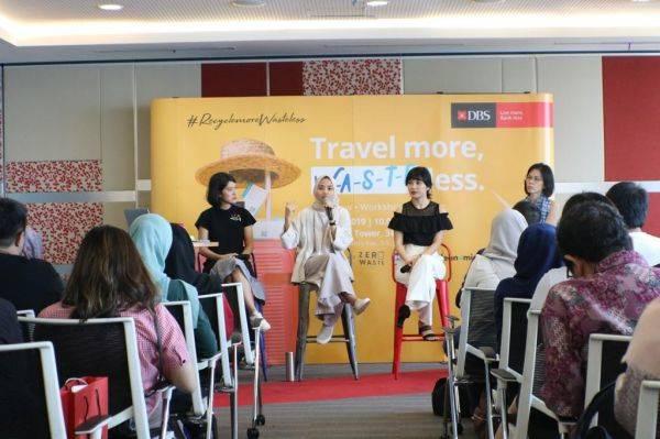 Talkshow bertema Travel More, Waste Less di Jakarta, Sabtu (27/7).