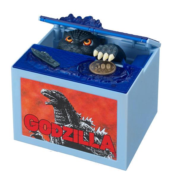 [MIJ] 哥吉拉零錢存錢筒 恐龍 電動存錢筒 日本SHINE出品 玩具 送禮 交換禮物