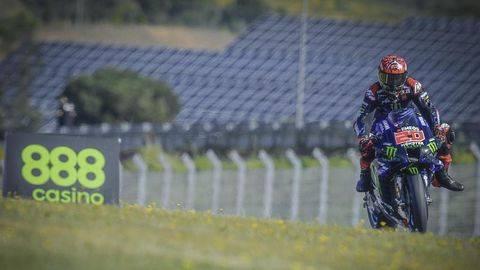 Fabio Quartararo pole position MotoGP Spanyol 2021. (Dorna Sports)