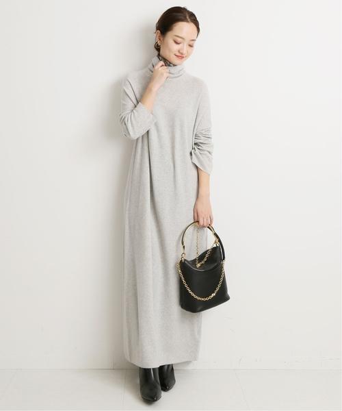 微鬆高領針織連身裙