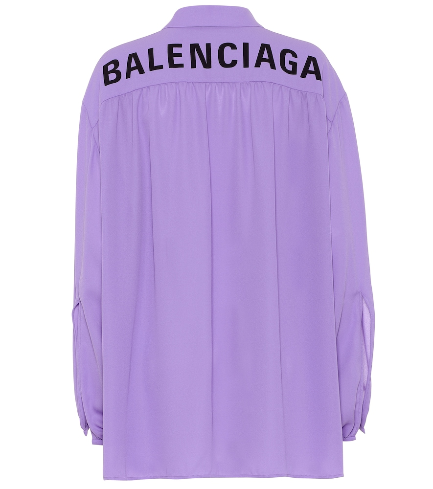 A key silhouette from the label, the Scarf shirt from Balenciaga is updated here in a soft shade of