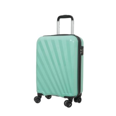 ABS+PC亮面材質 湖水綠/珊瑚橘/珠光藍三色 TSA海關鎖 可擴充拉鍊隔層