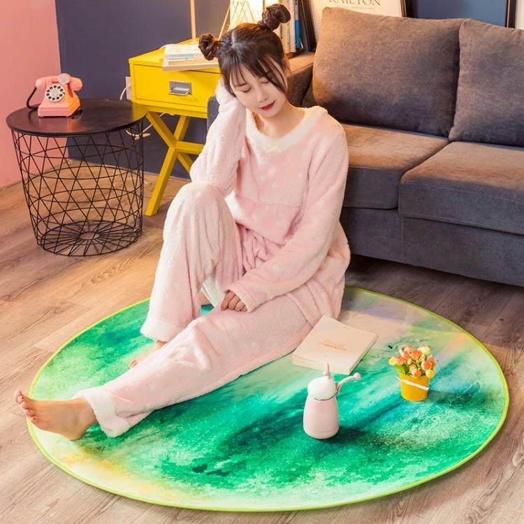 地毯 圓形地毯臥室INS星球地墊電腦椅子轉椅墊子大面積床邊毯 全館牛轉錢坤 新品開好運