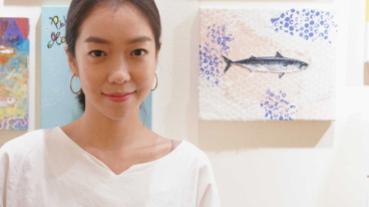 受邀參加台日跨國際畫展 大霈以《鼠》作畫含反思