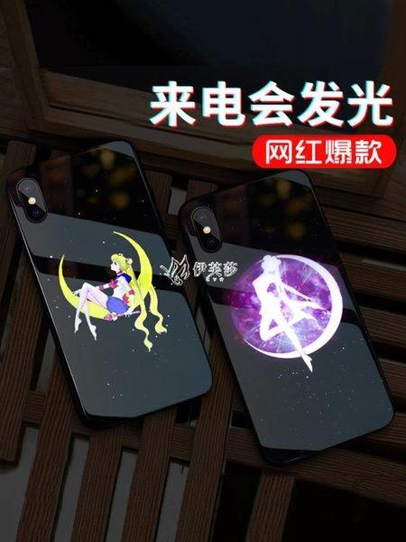 發光蘋果X手機殼xr來電閃8plus女款iphone7plus網紅潮牌xs max卡通