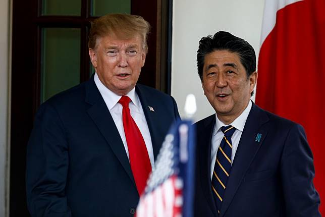 As Donald Trump and Shinzo Abe celebrate ties and sidestep trade dispute, Beijing will be watching closely