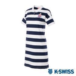 ◎型號:194063-419 ◎運動時尚的高調態度 ◎完美融合功能和潮流感品牌定位:運動品牌品牌:K-SWISS款式:POLO衫適穿對象:女生主材質:棉尺寸:S,M,L袖長:短袖顏色:白色系,藍色系適