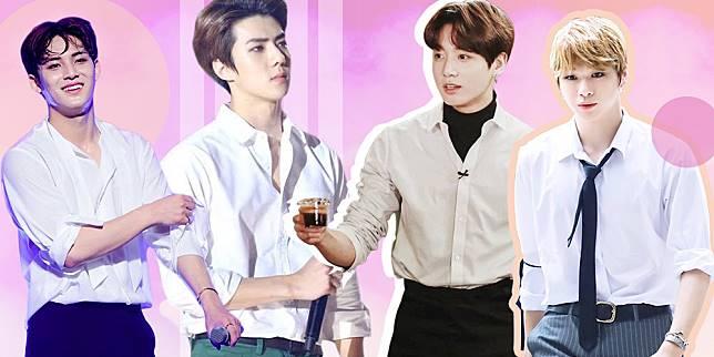 11 Kpop Idol dengan Kemeja Putih Lengan Digulung yang Seksi