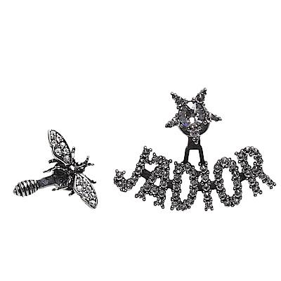 ★經典J Adior系列耳環★蜜蜂鍍金復古金屬和J Adior LOGO打造★水鑽鑲飾精緻造型,讓您愛不釋手★獨特品味,時尚必備精品配件