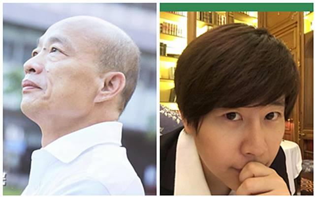 高雄市長韓國瑜、「卡神」楊蕙如。(組圖 / 翻攝韓國瑜、楊蕙如臉書)