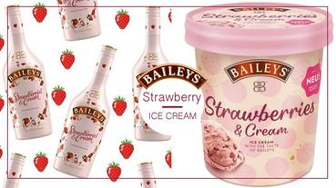 貝禮詩推限定「草莓奶酒冰淇淋」!香甜奶酒氣息融入冰淇淋中,每一口都充滿甜蜜好滋味