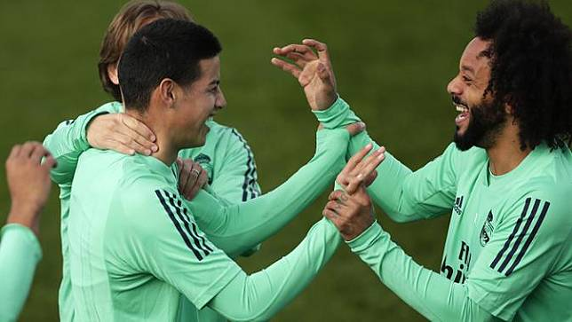 Hadapi City, Pemain Real Madrid Penuh Tawa Saat Latihan