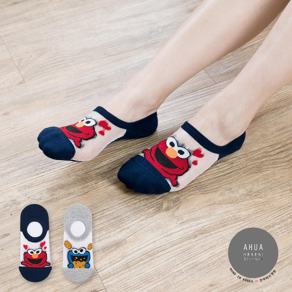 韓國襪子 芝麻街透膚隱形襪【K0586】韓妞必備少女襪 百搭純色襪子