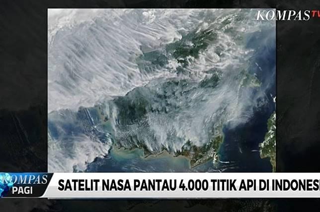 Nih! Tampilan Karhutla di Sumatera dan Kalimantan dari Satelit NASA