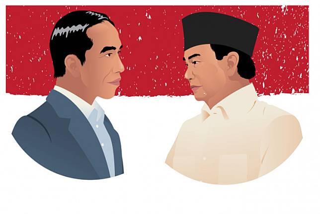 Incumbent President Joko Widodo and rival Prabowo Subianto