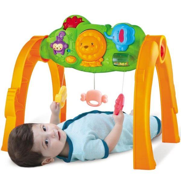 全館85折澳貝新生嬰兒森林健身架寶寶帶音樂早教兒童多功能益智玩具0-1歲