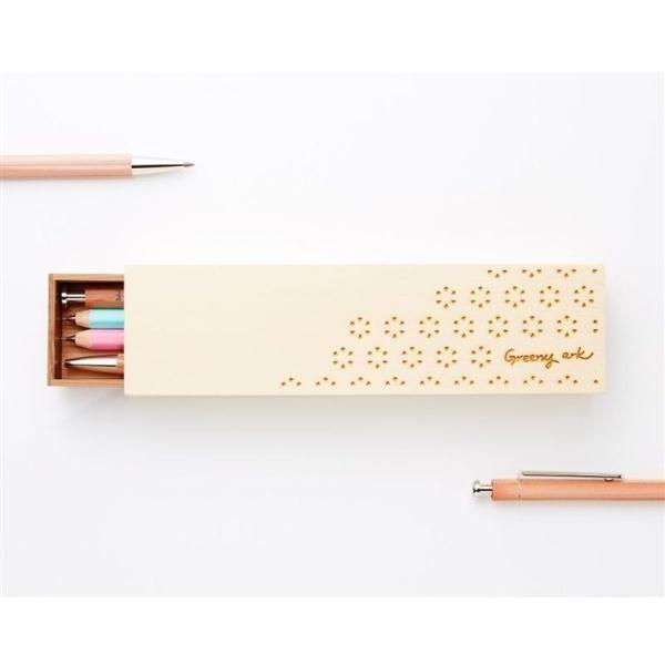 《幸福花兒款》清新知性原木筆盒【北星綠舟聯名】
