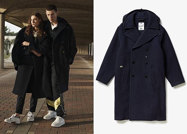 LACOSTE x GLOVERALL Pea Coat(互聯網)
