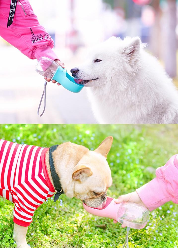狗狗外出水壺便攜式飲水器泰迪隨行喂水杯掛式喝水瓶寵物戶外用品
