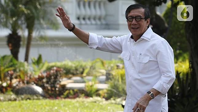Yasonna Laoly Mengaku Bahas Hukum dan Lapas dengan Jokowi