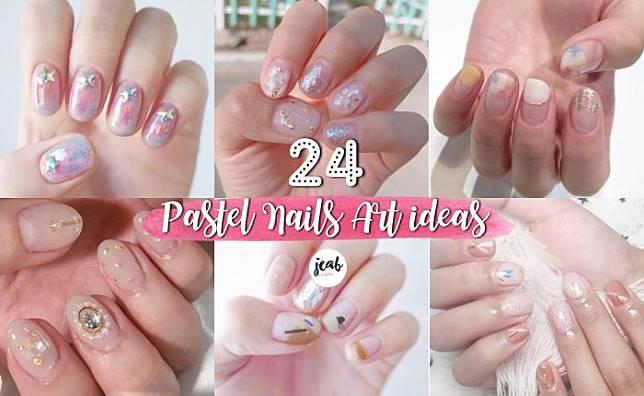 24 ไอเดียทำเล็บ Nail Art โทนสีพาสเทล แจกความน่ารักสดใส สไตล์ญี่ปุ่น