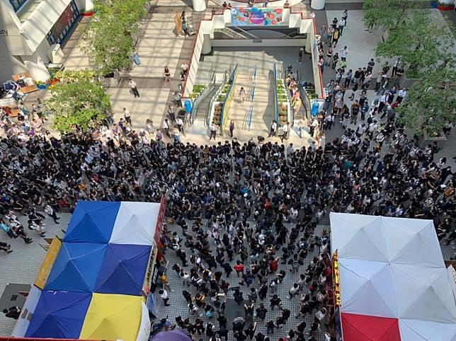 大批學生參與。telegram圖片