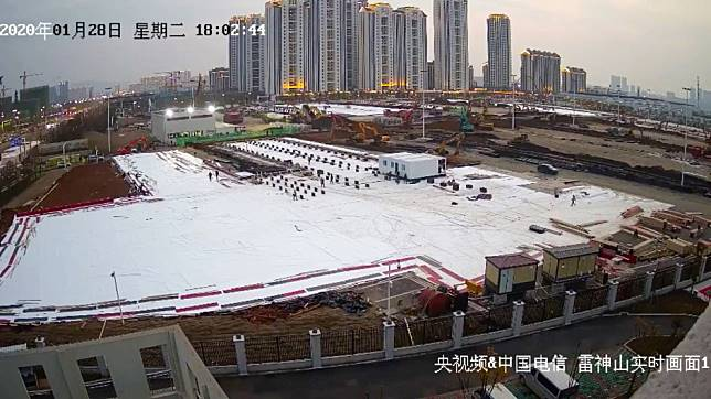 Live from Wuhan: millions tune in to watch China build coronavirus hospitals
